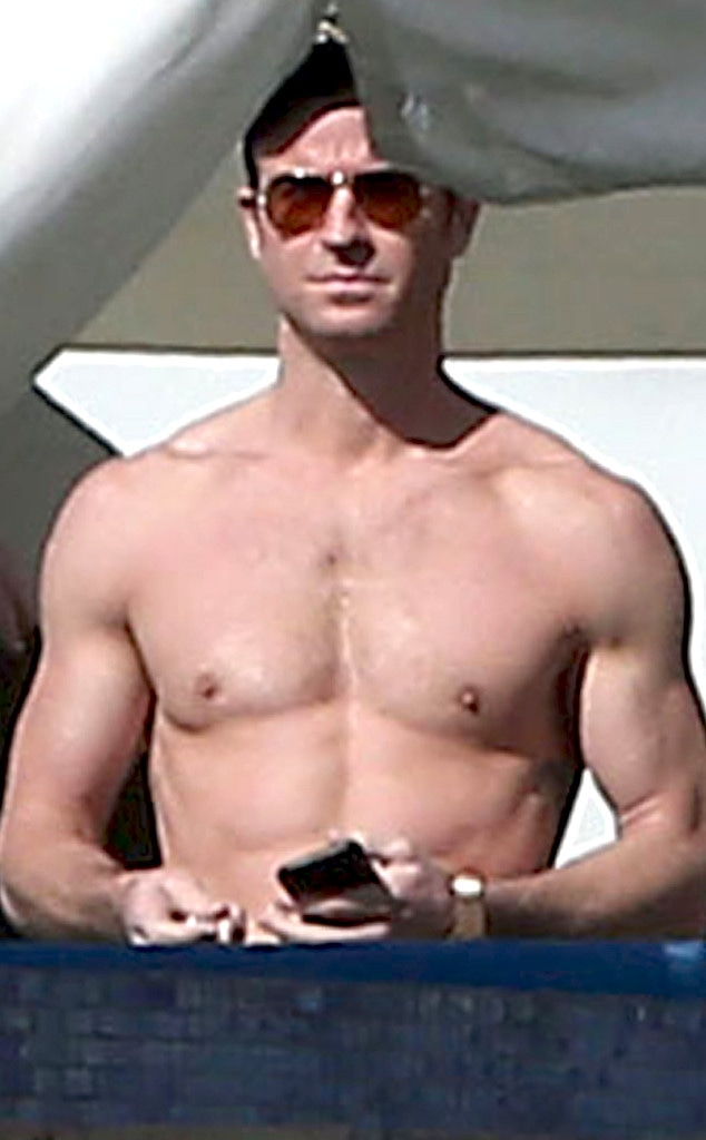 See Justin Therouxs Shirtless Body During Vacation With