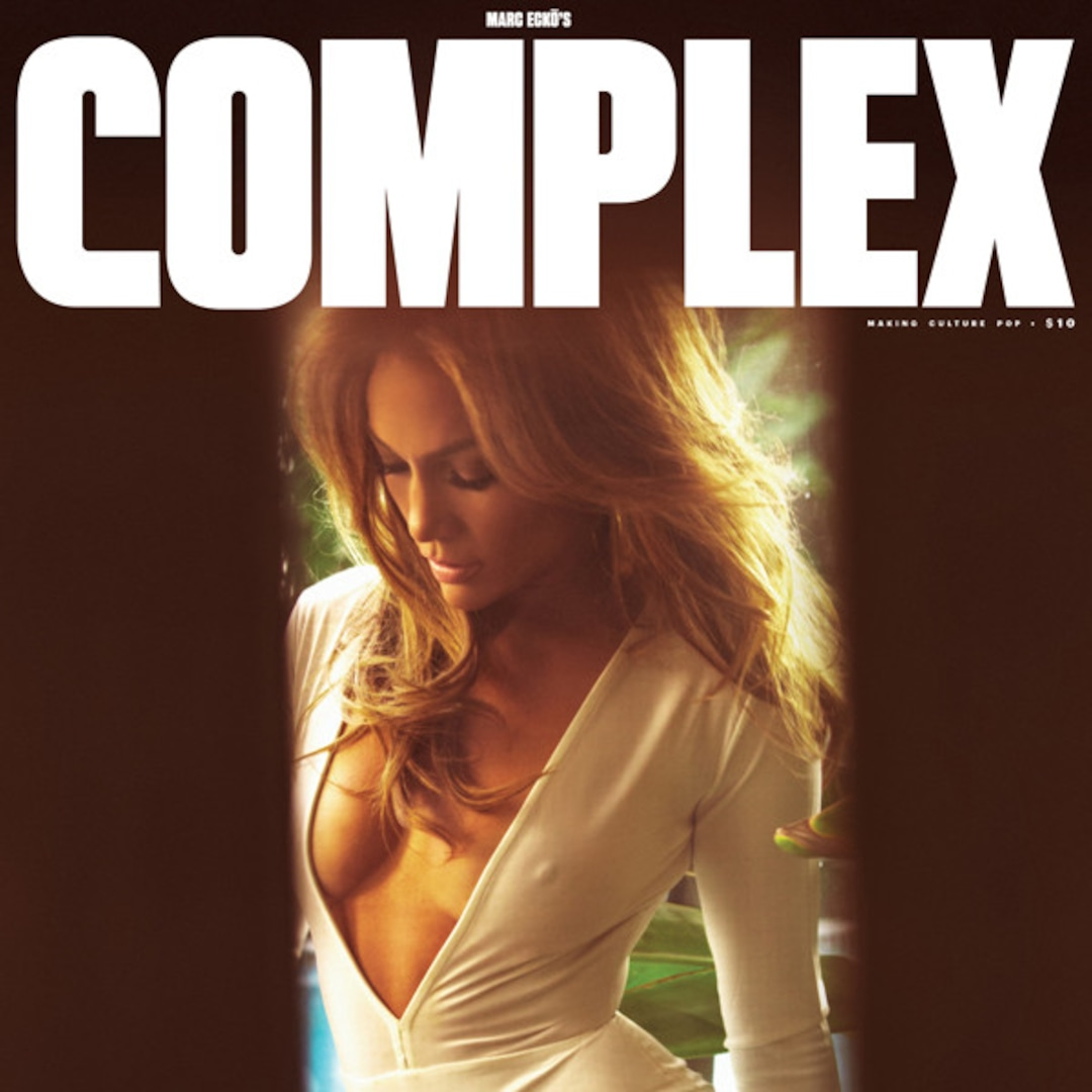 Jennifer Lopez Flaunts Cleavage for Complex, Is a Warrior