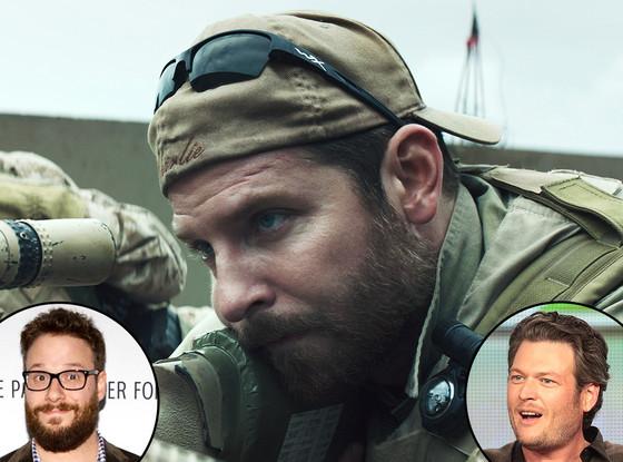 American Sniper, Bradley Cooper, Seth Rogen, Blake Shelton