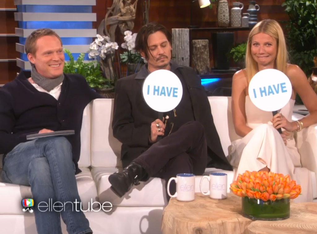 Ellen DeGeneres, Johnny Depp, Gwyneth Paltrow, Never Have I Ever
