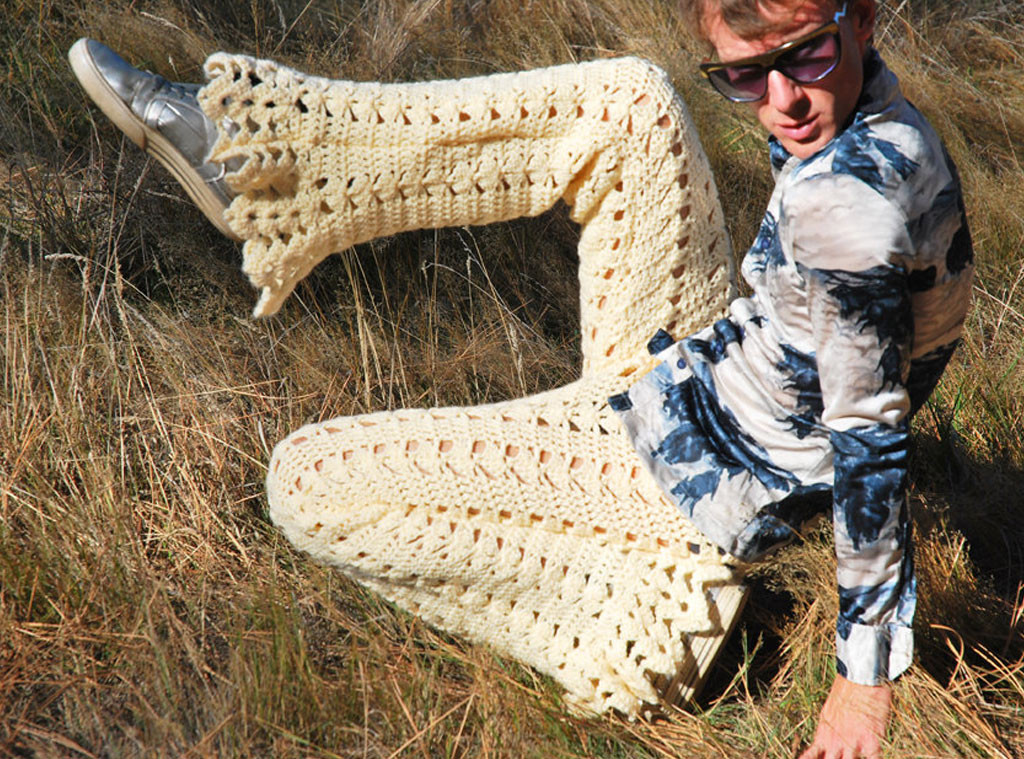 Mens Crocheted Pants & Shorts for Hipsters is a Thing