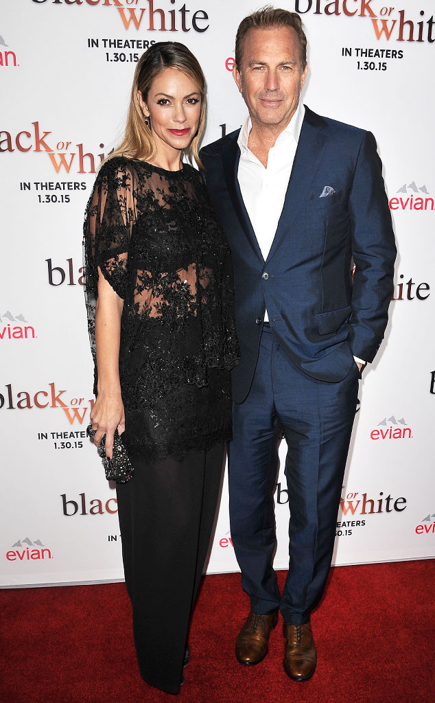 Kevin Costner with wife Christine Baumgartner