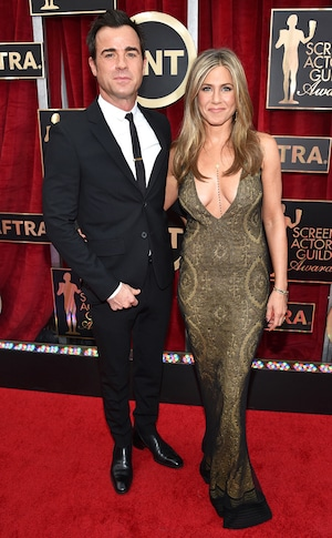 Justin Theroux, Jennifer Aniston, 2015 SAG Awards