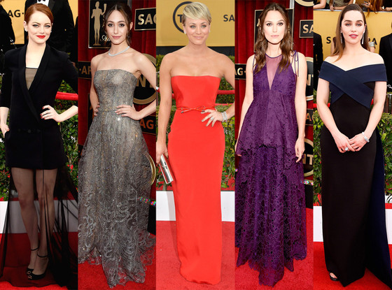 Gowns By Age at the 2015 SAG Awards: See How Stars in Their 20s, 30s ...