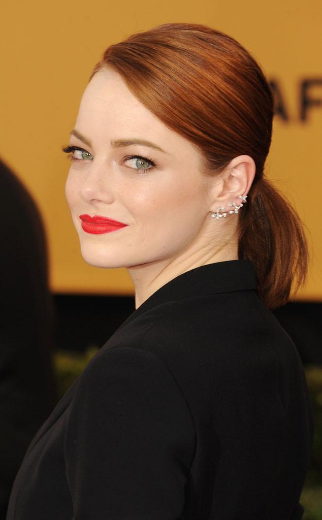 Emma Stone, SAG Awards, Get the Look, Hair, Makeup