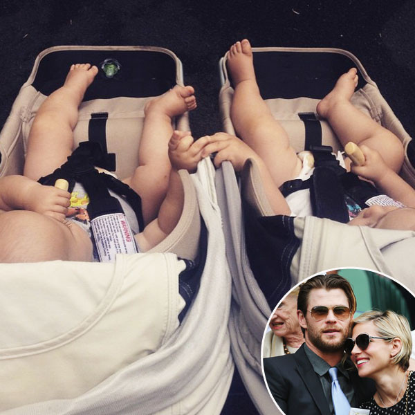 Chris Hemsworth, Elsa Pataky, Wimbledon