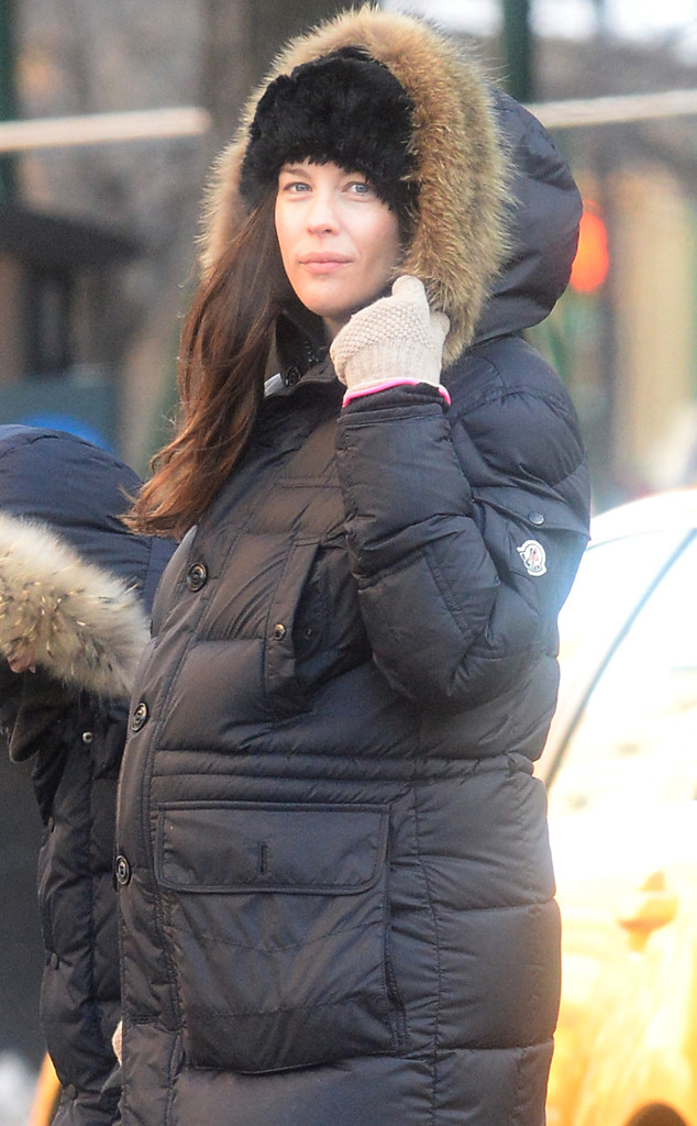 Pregnant Liv Tyler Covers Baby Bump With Puffy Coat