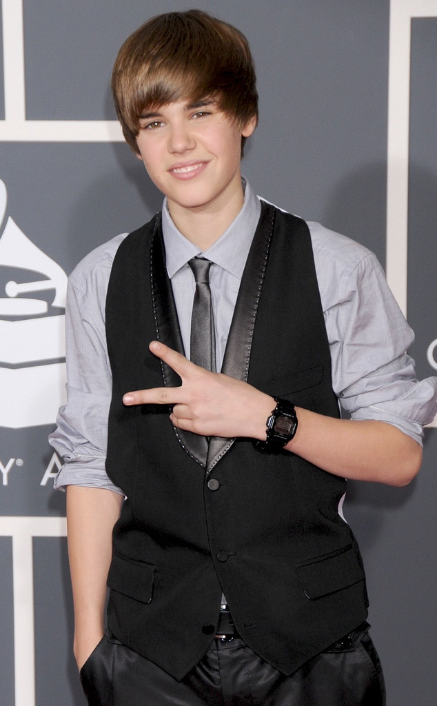 Justin Bieber -  The Biebs was first nominated for a Grammy back in 2011.