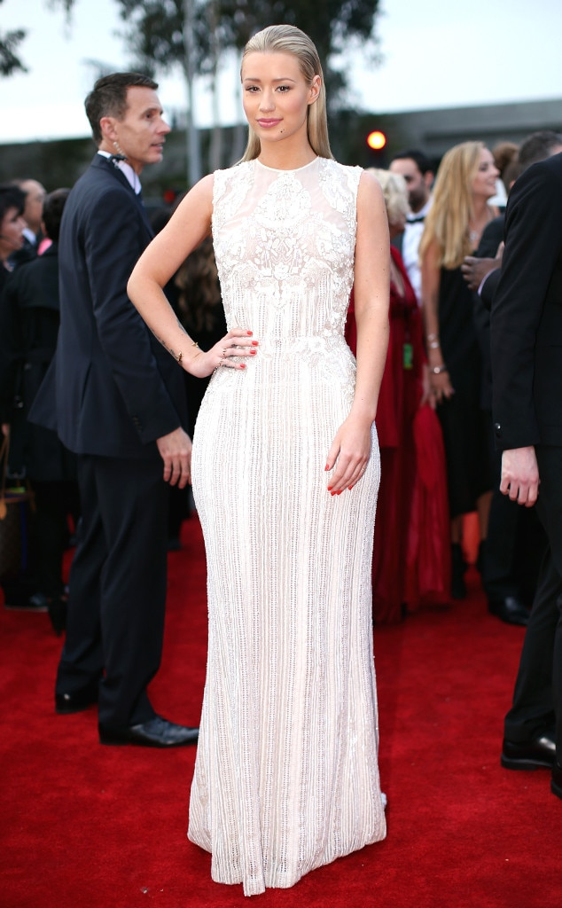 Iggy Azalea -  The rapper wowed in white at the 2014 Grammys ceremony.