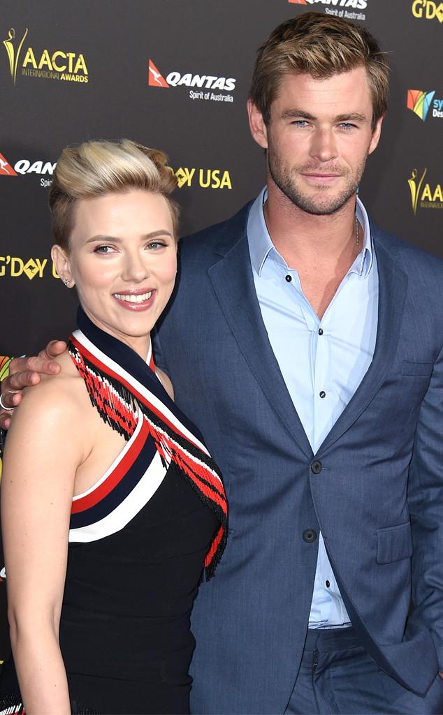 Scarlett Johansson, Chris Hemsworth, AACTA International Awards