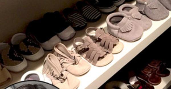 Kourtney Kardashians Shoe Game For Penelope Disick Blows Kim Closet Out Of The Water On