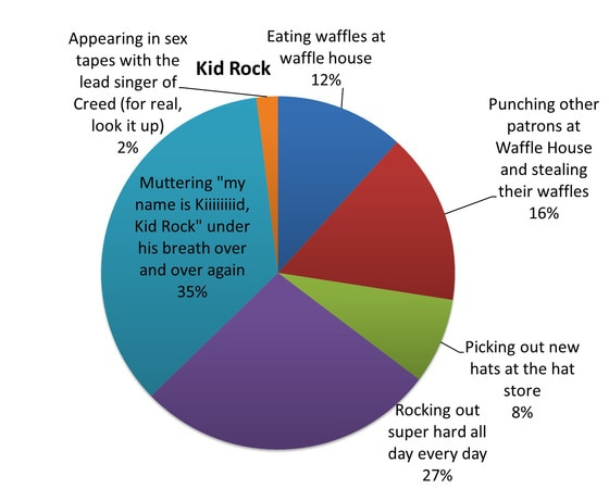 Kid Rock From Celebrity Pie Charts E News