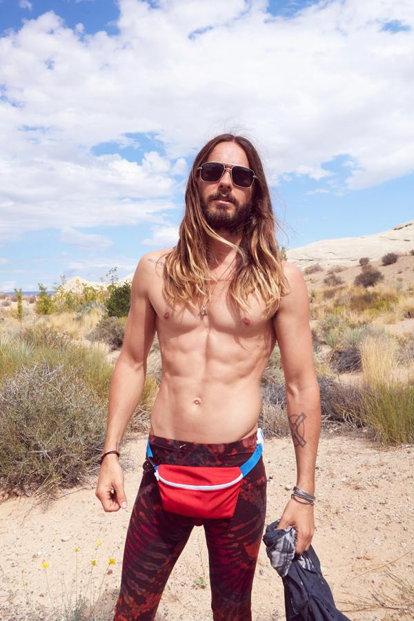 Shirtless Jared Leto Wears A Fanny Pack But All We Can Stare At Are