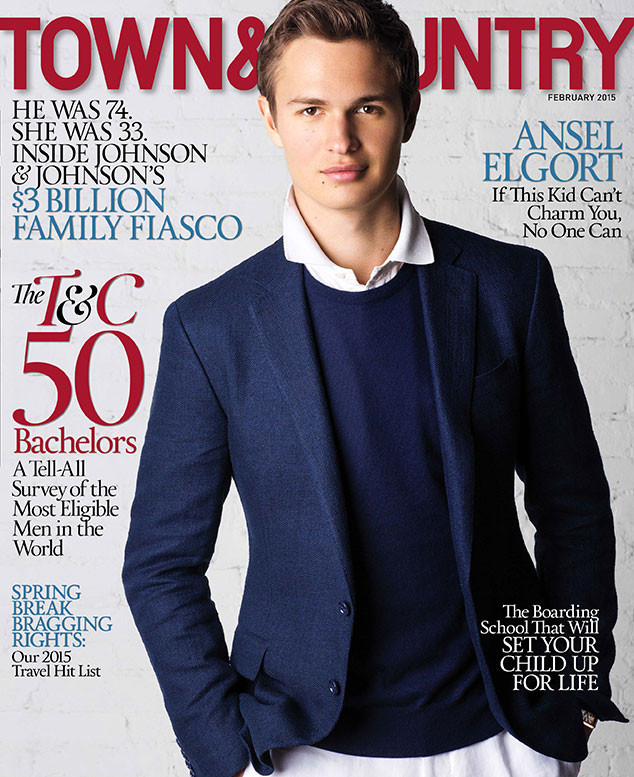 Ansel Elgort, Town & Country
