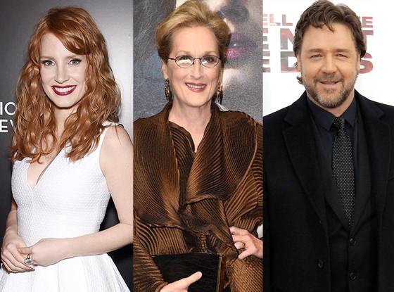 Jessica Chastain, Meryl Streep, Russell Crowe