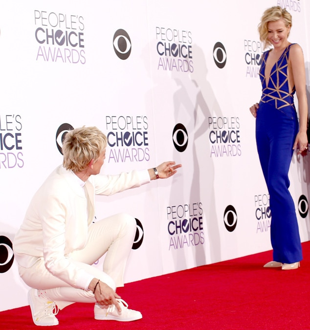 That's My Girl -  Sometimes, DeGeneres just wants to let her wife shine bright on the red carpet.