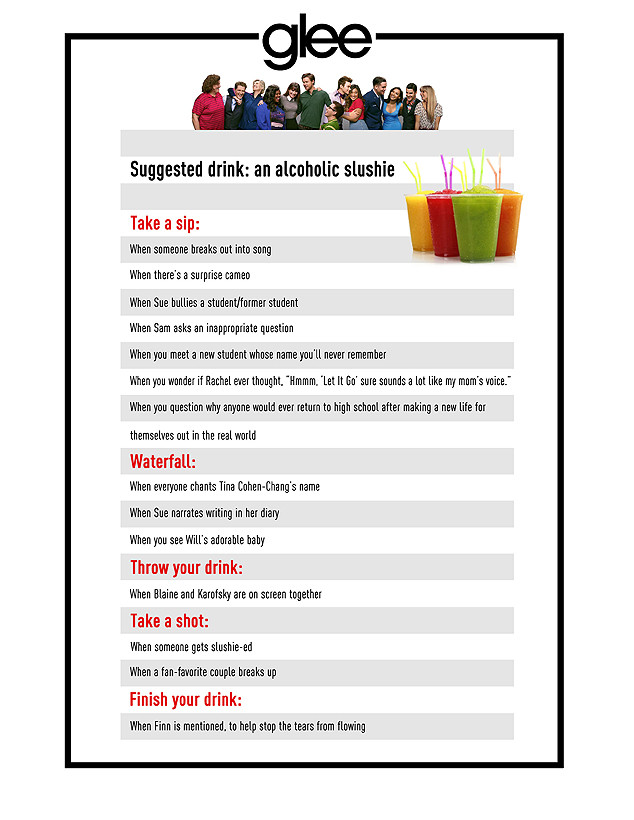 Time to Get Slushie-Sloshed! Play Our Glee Drinking Game