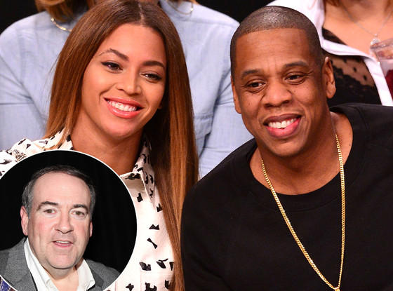 Beyonce, Jay-Z, Mike Huckabee