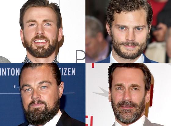 Chris Evans, Jamie Dornan, Leonardo DiCaprio, Jon Hamm, Beards