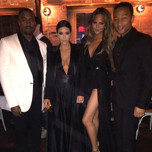 Kim Kardashian, Kanye West, John Legend, Chrissy Teigen