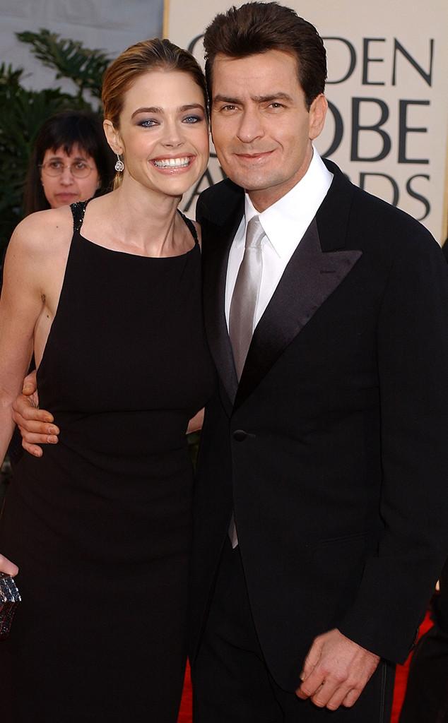 Denise Richards, Charlie Sheen, Golden Globes