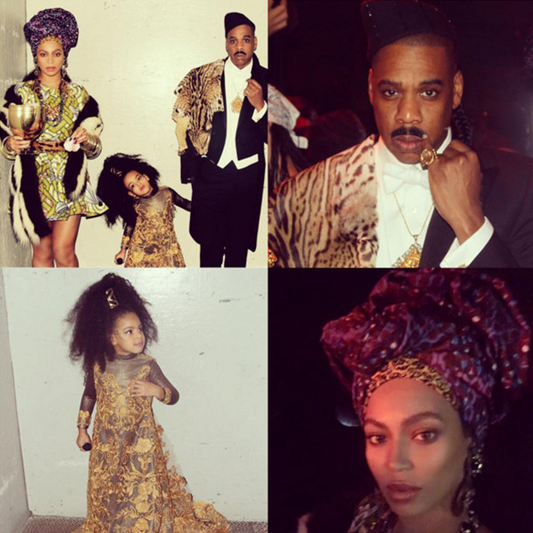 Beyonce Jay Z And Daughter Blue Ivy Carter Rock Coming To America Halloween Costumes E Online