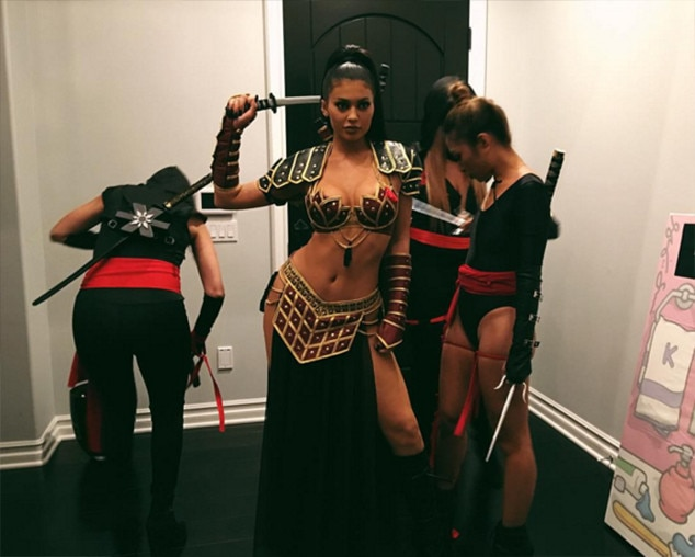 Don't Mess With Kylie -  The youngest member of the Kar-Jenner clan flaunts her enviable abs as she dressed up as a ninja warrior in 2015.