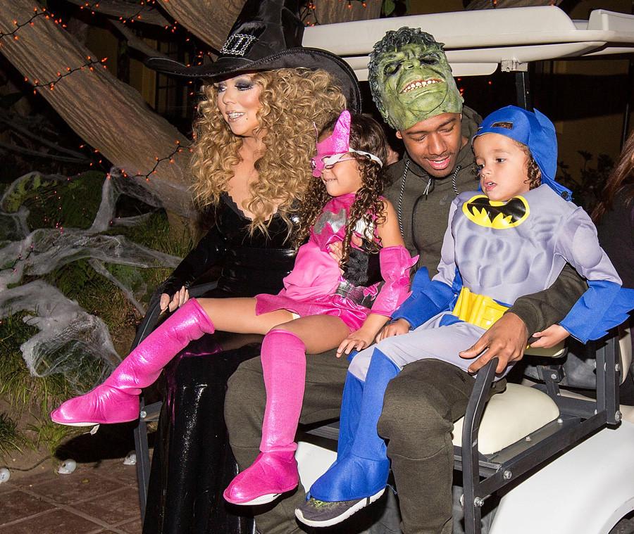 Mariah Carey, Nick Cannon, Monroe Cannon, Moroccan Cannon, Halloween 2015