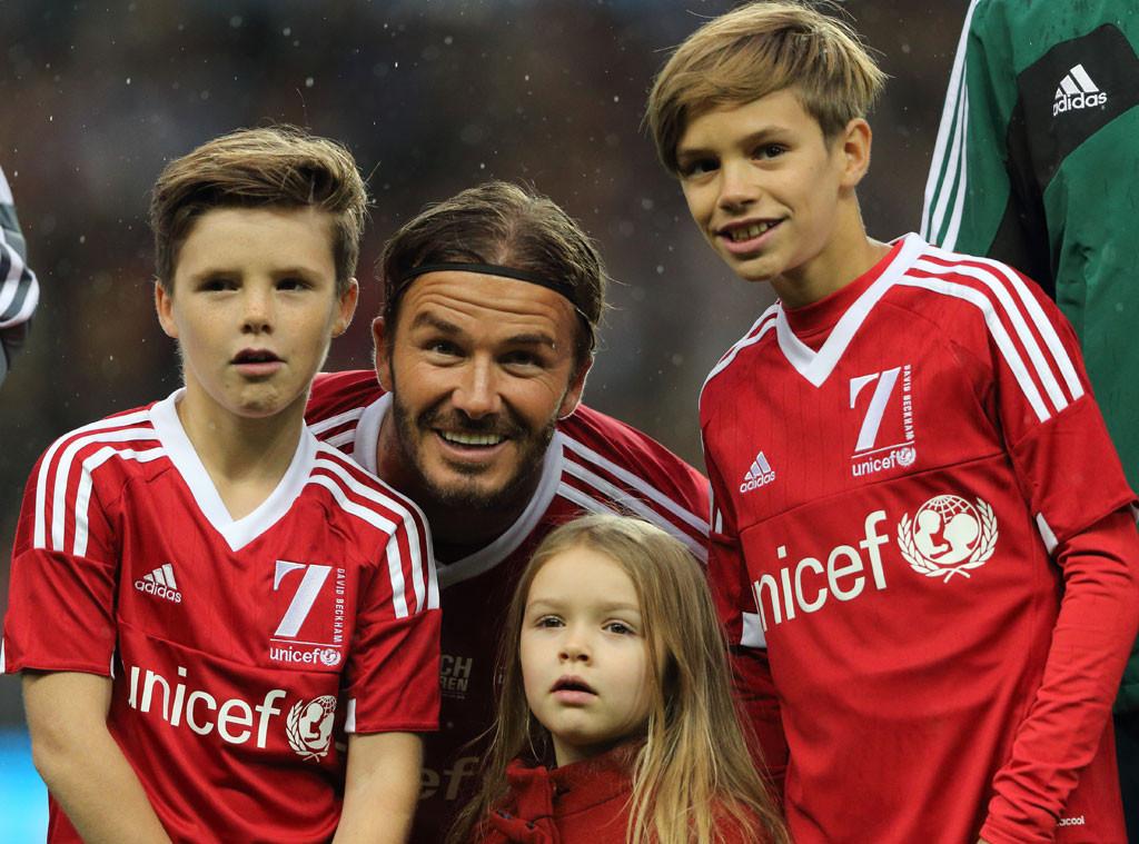 David Beckham, Cruz Beckham, Harper Beckham, Romeo Beckham