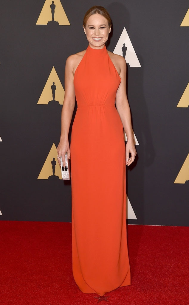 Red Hot! -  Brie's fiery rougefrock clung toher svelte curves like only a Calvin Klein dress wouldat theAcademy of Motion Picture Arts and Sciences' 7th annual Governors Awards in 2015.