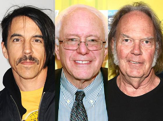 Bernie Sanders, Neil Young, Anthony Keidis