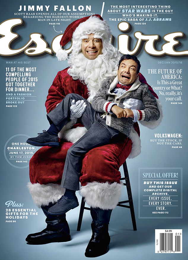 Jimmy Fallon Covers Esquire and Offers His Take on Stephen Colbert ...