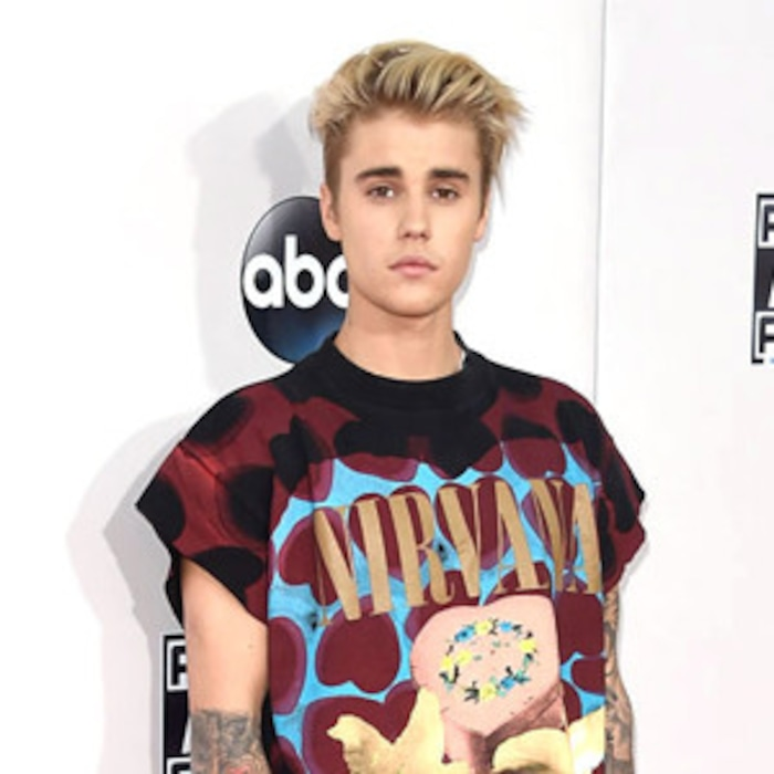 143b354c Justin Bieber Wore a Nirvana Shirt to the 2015 AMAs, So Twitter Declared  the Band's Legacy Ruined Forever | E! News