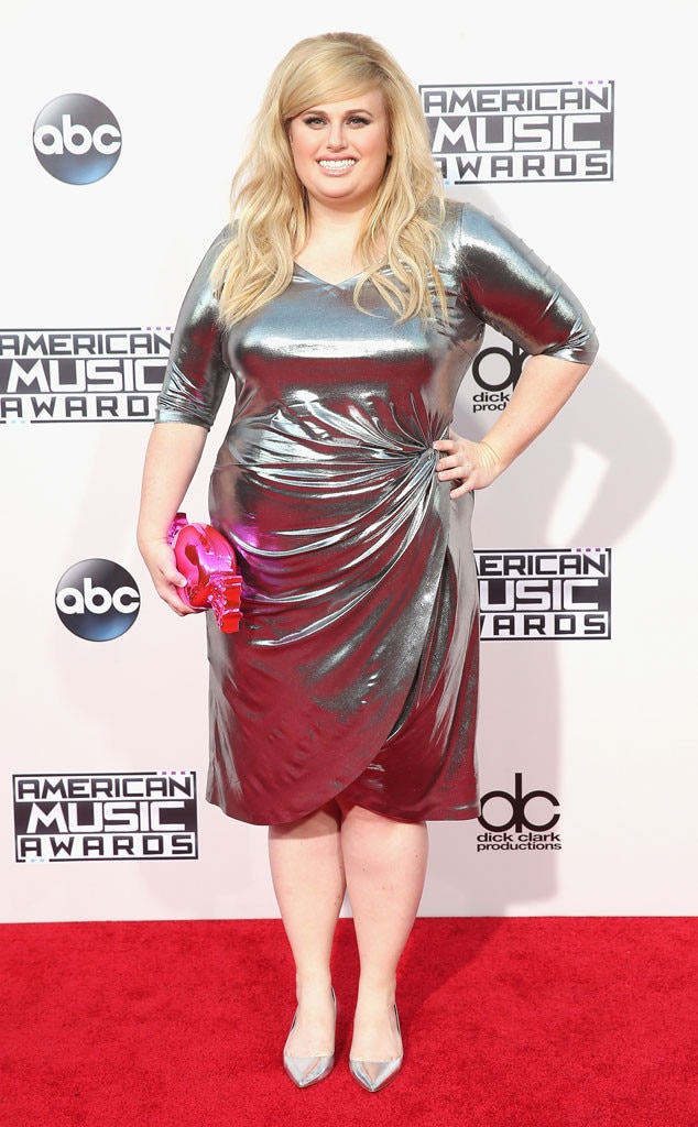 Rebel Wilson -  This metallic silver mini dress Ms. Wilson wore to the 2015 awards was almost as sassy and fun as she is.