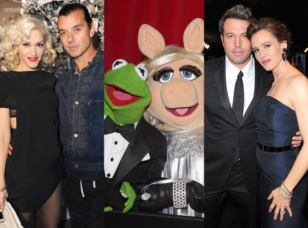 Gwen Stefani, Gavin Rossdale, Ben Affleck, Jennifer Garner, Miss Piggy, Kermit