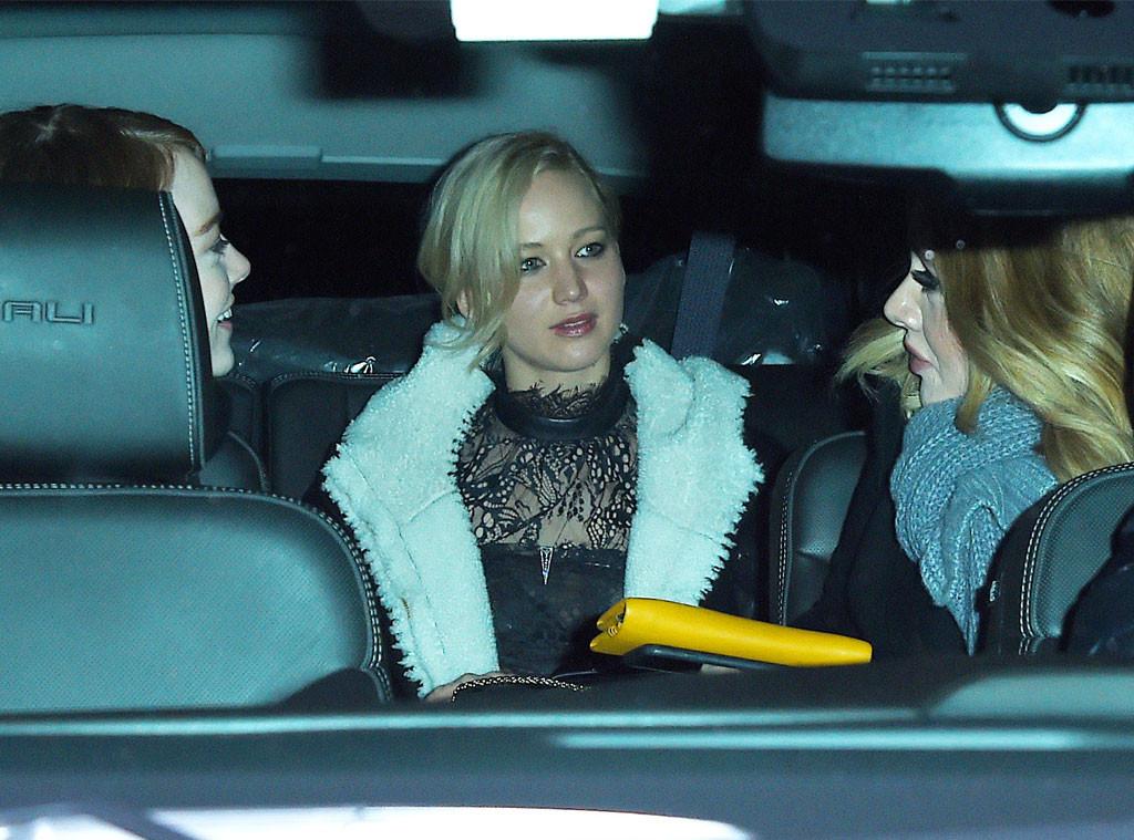 Adele, Jennifer Lawrence, Emma Stone
