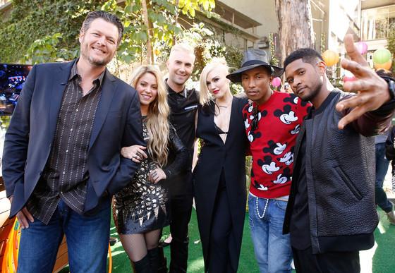 Blake Shelton, Adam Levine, Gwen Stefani, Pharrell Williams, Usher