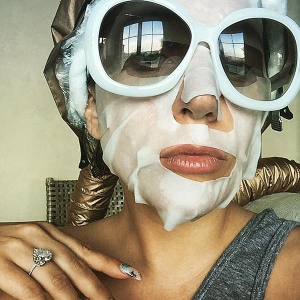 Lady Gaga, Face Mask, Instagram
