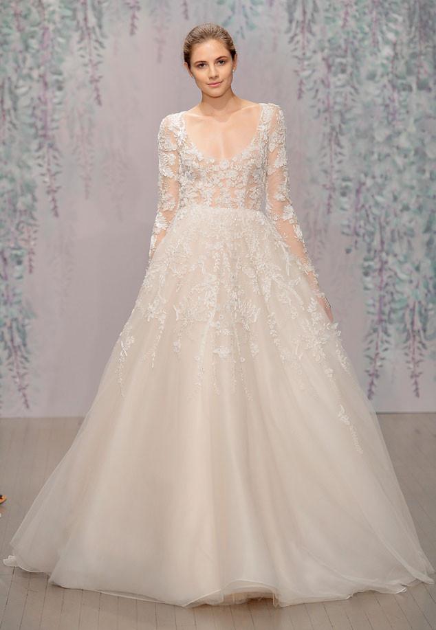 See Jamie Chung\'s Gorgeous Lace Monique Lhuillier Wedding Dress | E ...
