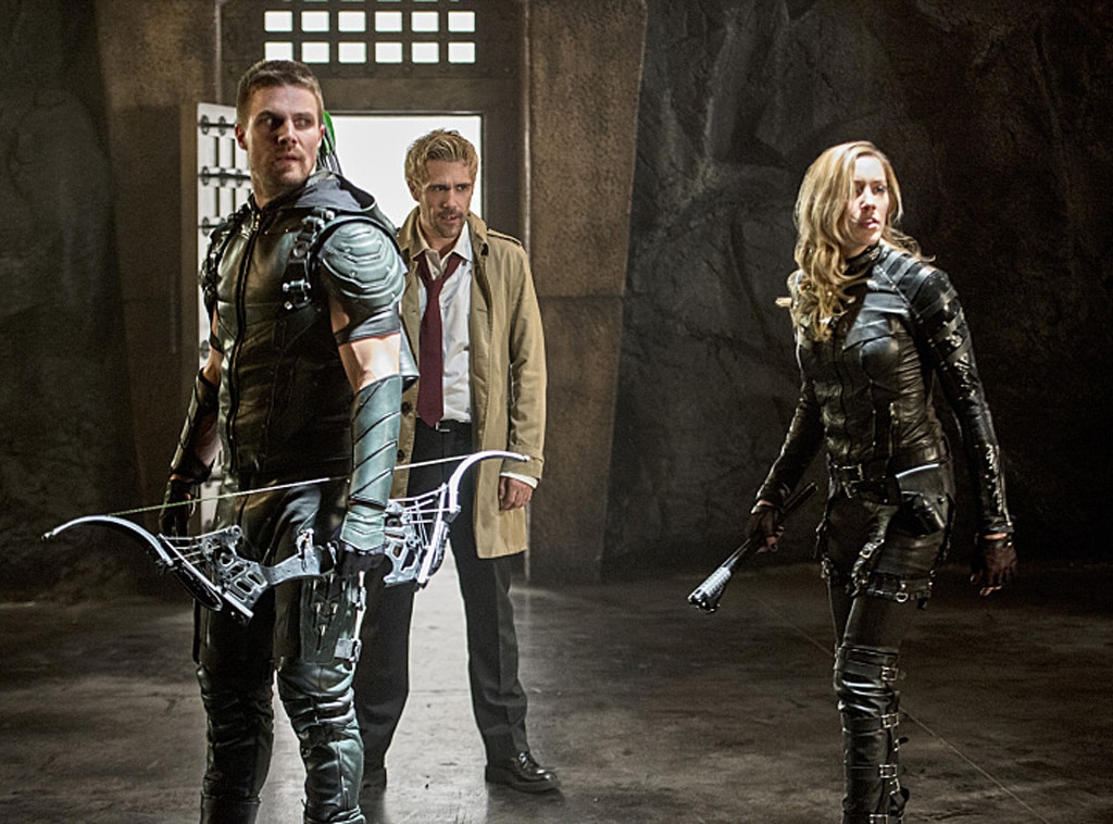 Stephen Amell, Matt Ryan, Katie Cassidy, Arrow