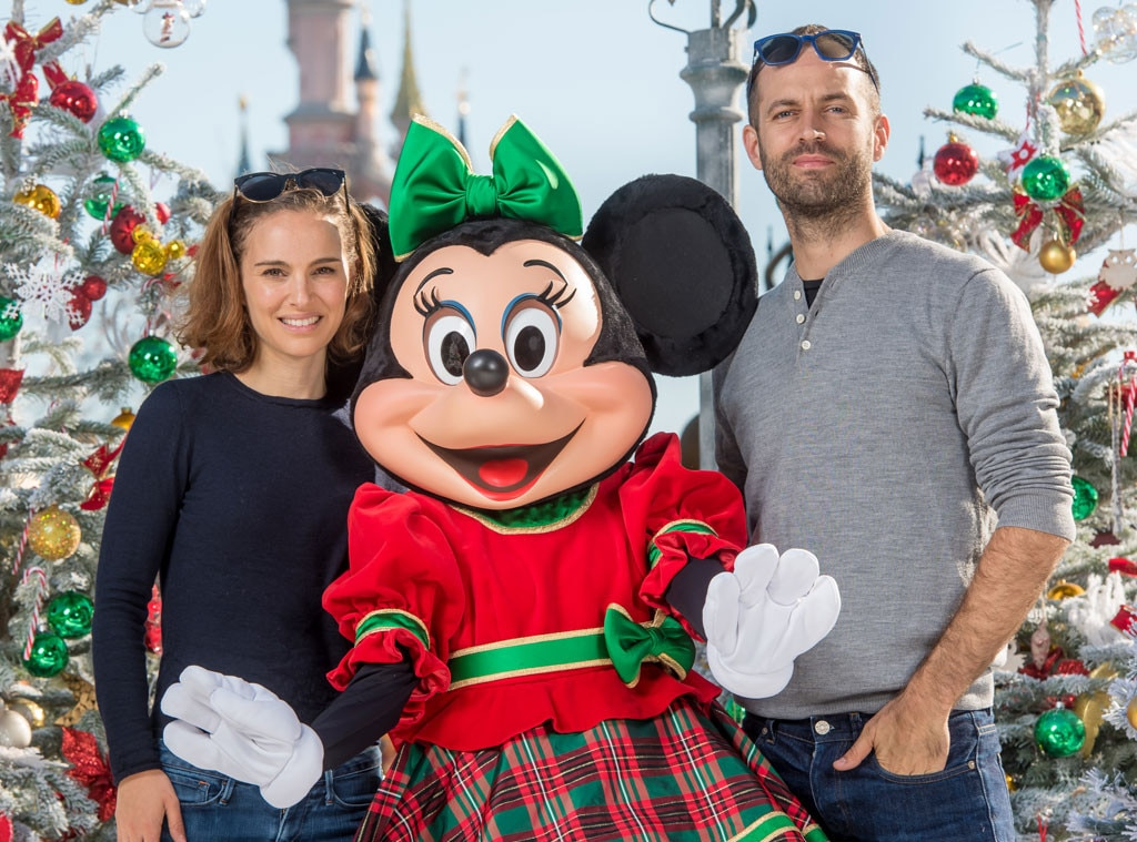 natalie portman benjamin millepied from stars at disneyland disney world e news. Black Bedroom Furniture Sets. Home Design Ideas