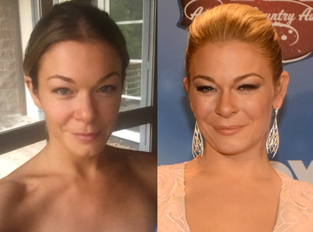 LeAnn Rimes -  The country cutie looks fresh faced without mascara or concealer.