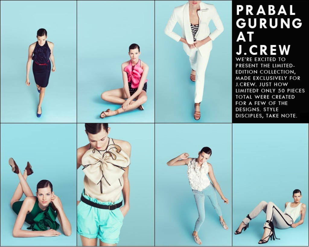 Designer Collarborations, Prabal Gurung for J.Crew