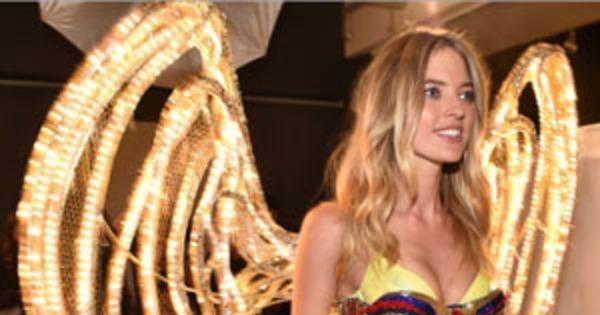 619c0f971a Martha Hunt Unveils Swarovski Lingerie Ahead of the 2015 Victoria s Secret  Fashion Show