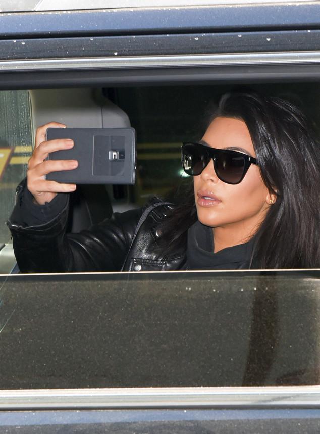 What Kim Kardashian Looks Like When She Falls Asleep With