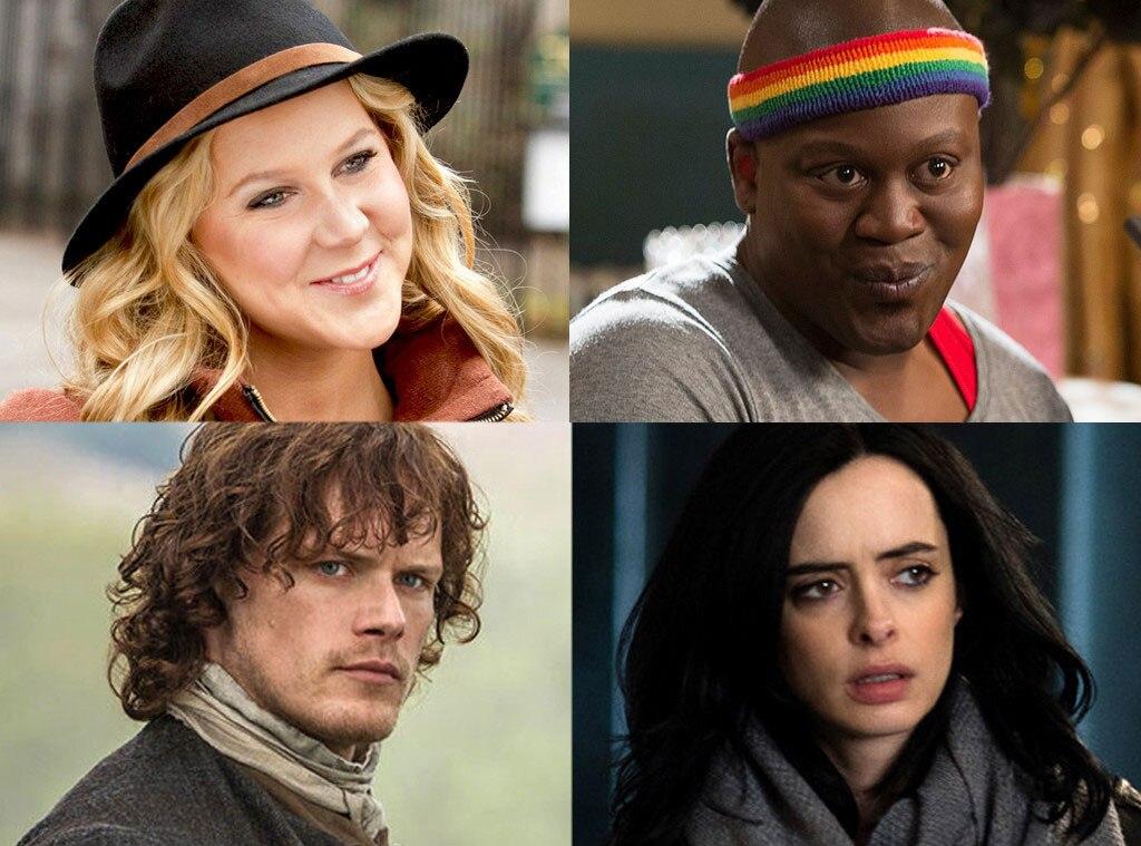 Jessica Jones, Outlander, Unbreakable Kimmy Schmidt, Inside Amy Schumer