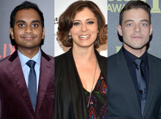 Golden Globes TV Newbies, Aziz Ansari, Rachel Bloom, and Rami Malek