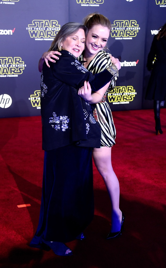 Carrie Fisher, Billie Lourd, Star Wars Premiere