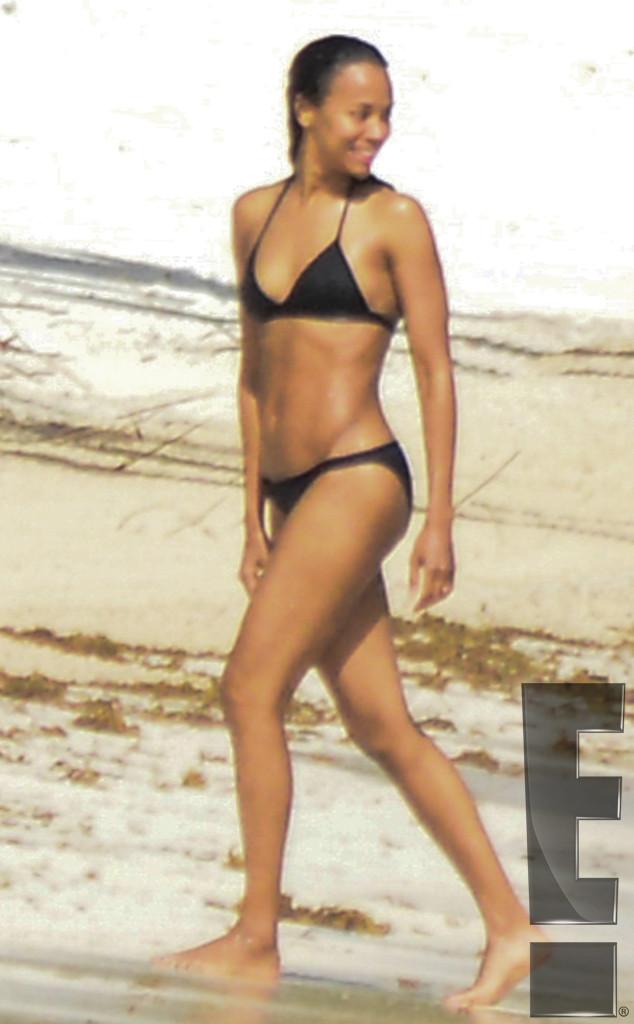 Zoe Saldana's Bikini Body Steals the Show During PDA ...