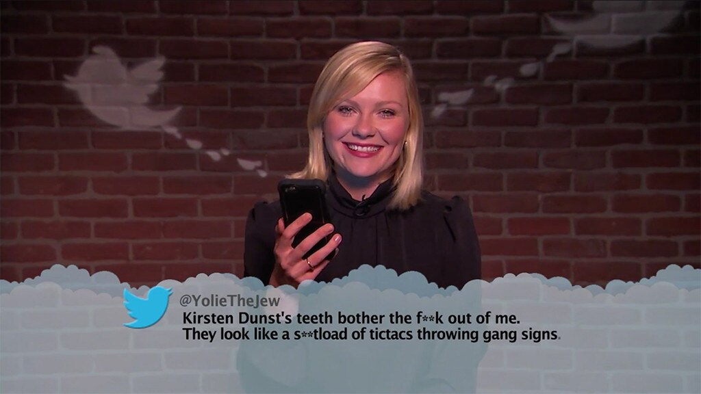 Kirsten Dunst From Celebrity Mean Tweets From Jimmy Kimmel Live E